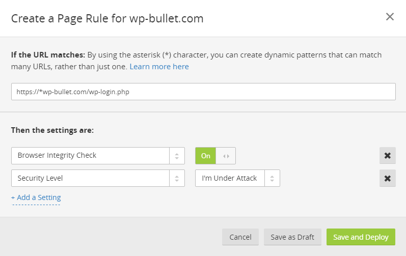 cloudflare-wp-login-page-rule-brute-force-protection-non-www